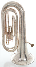 Musical Instruments:Horns & Wind Instruments, Accord Silver Tuba, Serial #12536....