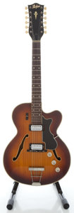 Musical Instruments:Electric Guitars, Late 1960s Hofner 457/12 Sunburst 12-String Semi-Hollow BodyProject Electric Guitar, Serial # 35426 ...