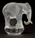 Art Glass:Lalique, R. LALIQUE CLEAR AND FROSTED GLASS TOBY PAPERWEIGHT . Circa1931. Stenciled: R. LALIQUE, FRANCE . 3-1/4 inches h...