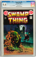 Bronze Age (1970-1979):Horror, Swamp Thing #4 (DC, 1973) CGC NM 9.4 Off-white to white pages....