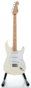 Musical Instruments:Electric Guitars, 1998 Fender Stratocaster MIM White Solid Body Electric Guitar,Serial # MN8318663....