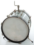 "Musical Instruments:Drums & Percussion, 1960's Ludwig Gray Oyster Pearl 20"" Kick Drum. , Serial #177023...."