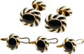 Estate Jewelry:Cufflinks, Gentleman's Enamel, Gold Dress Set, David Webb. ...