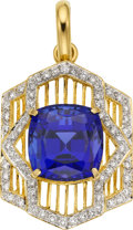 Estate Jewelry:Pendants and Lockets, Tanzanite, Diamond, Gold Enhancer. ...