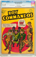 Golden Age (1938-1955):War, Boy Commandos #2 (DC, 1943) CGC VG/FN 5.0 Off-white pages....