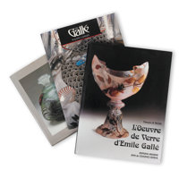 SIXTY-ONE ART GLASS REFERENCE BOOKS Large library of art glass reference books, 20th century