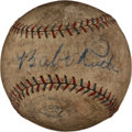 Autographs:Baseballs, Circa 1930 Babe Ruth & Lou Gehrig Signed Baseball with Aaron,Banks....