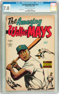 Golden Age (1938-1955):Non-Fiction, The Amazing Willie Mays #nn (Famous Funnies, 1954) CGC FN/VF 7.0Cream to off-white pages....