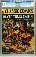 Golden Age (1938-1955):Classics Illustrated, Classic Comics #15 Uncle Tom's Cabin - First Edition (Gilberton,1943) CGC VG/FN 5.0 Off-white to white pages....