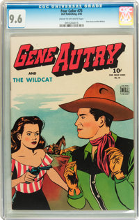 Four Color #75 Gene Autry (Dell, 1945) CGC NM+ 9.6 Cream to off-white pages