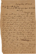 Autographs:Military Figures, Autograph Letter Signed to General Daniel Ruggles....