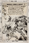 Original Comic Art:Covers, Ernie Chan Marvel Triple Action #42 Avengers Cover OriginalArt (Marvel, 1978)....