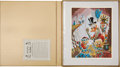 Original Comic Art:Miscellaneous, Carl Barks First National Bank of Cibola LithographProgressive Proof Boxed Set #PP1 (Another Rainbow/Disney, ...