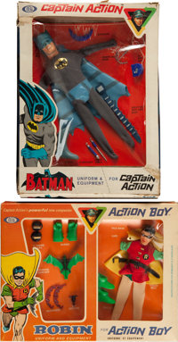 Captain Action Batman and Robin Uniform and Equipment Group (Ideal, 1966-67).... (Total: 2 Items)