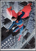 Original Comic Art:Covers, Alex Ross Superman:20th Century Painting Original Art(1998)....