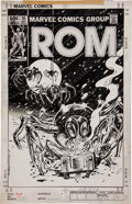 Original Comic Art:Covers, Al Milgrom and Steve Mitchell Rom #30 Cover Original Art(Marvel, 1982)....