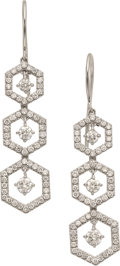 Estate Jewelry:Earrings, Diamond, White Gold Earrings, Eli Frei. ...