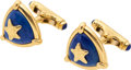Estate Jewelry:Cufflinks, Lapis Lazuli, Gold Cuff Links, Elizabeth Gage, English. ...