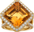 Estate Jewelry:Rings, Citrine, Yellow Sapphire, Diamond, Gold Ring. ...