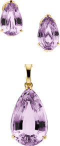 Estate Jewelry:Suites, Kunzite, Gold Jewelry Suite. ...
