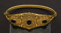 Estate Jewelry:Bracelets, Gold 22k Bracelet With Sapphires. ...