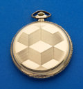 Timepieces:Pocket (post 1900), Zentra 14k Gold 51 mm Hunters Case. ...