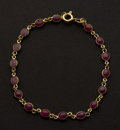 Estate Jewelry:Bracelets, 18k Gold Ruby Bracelet. ...