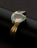 Estate Jewelry:Rings, Diamond & Synthetic Opal Ring. ...