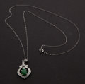 Estate Jewelry:Pendants and Lockets, 18k Gold Diamond Jade Pendant. ...