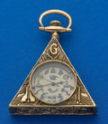 Timepieces:Pocket (post 1900), Swiss Masonic Pocket Watch. ...