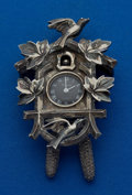 Timepieces:Other , Trifari Cuckoo-Clock Pendant Watch. ...