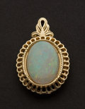 Estate Jewelry:Pendants and Lockets, Opal & Gold Pendant. ...