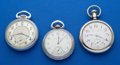 Timepieces:Pocket (post 1900), Three 17 Jewel Pocket Watches Runners. ... (Total: 3 Items)