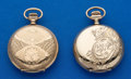 Timepieces:Pocket (post 1900), Two Elgin 0 Size Hunters Case Watches. ... (Total: 2 Items)
