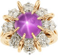 Estate Jewelry:Rings, Star Sapphire, Diamond, Platinum, Gold Ring, Oscar Heyman Bros.....