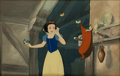Animation Art:Production Cel, Snow White and the Seven Dwarfs Production Cel with Background Courvoisier Animation Art (Disney, 1937)....