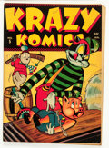 Golden Age (1938-1955):Funny Animal, Krazy Komics #5 (Timely, 1943) Condition: FN....