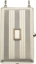 Estate Jewelry:Boxes, Art Deco Diamond, Synthetic Sapphire, White Gold Compact, Casse & Co.. ...