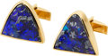 Estate Jewelry:Cufflinks, Gentleman's Boulder Opal, Gold Cuff Links. ...