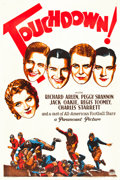 "Movie Posters:Sports, Touchdown (Paramount, 1931). One Sheet (27"" X 41"").. ..."