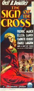 """Movie Posters:Drama, The Sign of the Cross (Paramount, 1932). Pre-War Australian Daybill (13"""" X 35"""").. ..."""