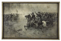 Military & Patriotic:Civil War, Oil Painting, Charge of the Union Cavalry, by A. C. Redwood, 1886,...