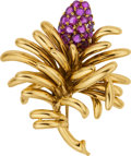 Estate Jewelry:Brooches - Pins, Ruby, Gold Brooch, Tiffany & Co.. ...