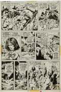 Original Comic Art:Panel Pages, Barry Smith, P. Craig Russell, and Dan Adkins Conan theBarbarian #21 page 14 Original Art (Marvel, 1972)....