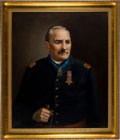 Military & Patriotic:Civil War, Civil War: Original Oil Painting of Captain Joseph Burger, Congressional Medal of Honor and Grandfather of United States Supre... (Total: 4 Items)