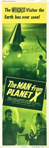 "Movie Posters:Science Fiction, The Man from Planet X (United Artists, 1951). Door Panel #3 (20"" X60"").. ..."