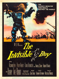 "Movie Posters:Science Fiction, The Invisible Boy (MGM, 1957). Poster (30"" X 40"").. ..."