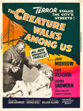 """Movie Posters:Horror, The Creature Walks Among Us (Universal International, 1956). Poster (30"""" X 40"""").. ..."""