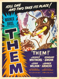 "Movie Posters:Science Fiction, Them! (Warner Brothers, 1954). Poster (30"" X 40"") Style Z.. ..."