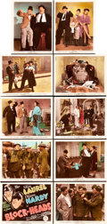 "Movie Posters:Comedy, Block-Heads (MGM, 1938). Color-Glos Photo Set of 10 (8"" X 10"")..... (Total: 10 Items)"